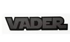 24Designs Compatible Emblem Star Wars Darth Vader Vehicle Car Badge Black Silver Stick-on