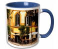 3dRose Spain, Malaga, Plaza De La Merced, Outdoor Cafes Mug, 11 oz, Blue