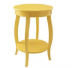 Powell Furniture Powell Round Shelf, Yellow Table