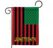 Americana Home & Garden Juneteenth American Garden Flag Support Awareness Afro United State Black Li