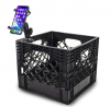 AutoExec AUE80011 Milkcrate with Phone Mount for Organizing Your Vehicle