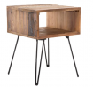Belmont Home Denton Reclaimed Wood Foldable End Table, 17.75 inches, Brown