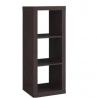 Better Homes and Gardens 3-Cube Organizer Storage Bookshelf, Espresso