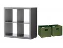 Better Homes and Gardens Bookshelf Square Storage Cabinet 4-Cube Organizer