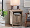 Better Homes and Gardens Modern Farmhouse Side Table/Nightstands, Rustic Gray Finish