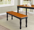 Better Homes & Gardens Better Homes and Gardens Autumn Lane Farmhouse Bench, Black and Oak - Very Ea