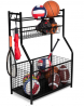 BIRDROCK HOME Sports Equipment Storage Rack - Steel Ball Storage Rack - Garage Ball Storage - Sports