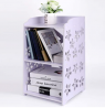 Bookcase,Storage Shelves/ 2 TierSmall Bookshelf / Kids Open Shelves/Staircase Organizer for Bathroom