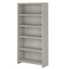 Bush Business Furniture Office by kathy ireland Echo 5 Shelf Bookcase, Gray Sand