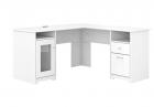 Bush Furniture Cabot 60W L Shaped Computer Desk, White