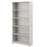 Bush Furniture Cabot Tall 5 Shelf Bookcase, 31W, Linen White Oak