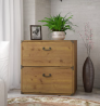 Bush Furniture kathy ireland Home Ironworks Lateral File Cabinet, Vintage Golden Pine