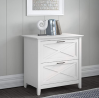 Bush Furniture Key West 2 Drawer Lateral File Cabinet, Pure White Oak