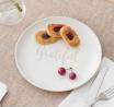 """byakj Off White """"Blessed"""" Decorative 8"""" Better Homes & Gardens 2ct Plates for Dessert Dinner S"""