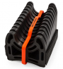 Camco 20 Ft (43051) Sidewinder RV Sewer Hose Support, Made From Sturdy Lightweight Plastic, Won't Cr