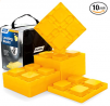 Camco 44510 Heavy Duty Leveling Blocks, Ideal for Leveling Single and Dual Wheels, Hydraulic Jacks,