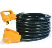 Camco (55191) 25' PowerGrip Heavy-Duty Outdoor 30-Amp Extension Cord for RV and Auto   Allows for Ad