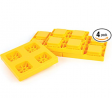Camco Heavy Duty Leveling Blocks, Ideal For Leveling Single and Dual Wheels, Hydraulic Jacks, Tongue
