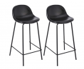 CangLong Faux Leather Back and Footrest Modern Counter Stool Chair Height for Pub Coffee Home Dinnin