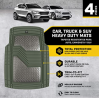 Caterpillar Heavy Duty Rubber Floor Mats for Car SUV Truck & Van-All Weather Protection, Front & Rea