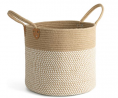 CHICVITA Large Jute Basket Woven Storage Basket with Handles – Natural Jute Laundry Basket Toy Tow