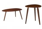 Christopher Knight Home Elam Wood Coffee Table, Walnut & Hoyt Wood End Table, Walnut
