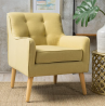 Christopher Knight Home Felicity Mid-Century Fabric Arm Chair, Wasabi