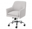 Christopher Knight Home Morgan Mid Century Modern Fabric Home Office Chair with Chrome Base, Beige,