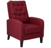 Christopher Knight Home Nievis Tufted Fabric Recliner, Deep Red / Dark Brown