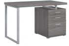 COASTER Home Furniture Brennan 3-Drawer Reversible set up Office Desk   Weathered Grey