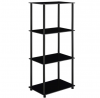 Convenience Concepts Designs2Go Classic 4-Tier Tower, Black Glass