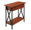 Convenience Concepts Tucson Flip Top End Table with Charging Station, Black / Cherry