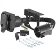 CURT 55774 Dual-Output Vehicle-Side 7-Pin, 4-Pin Connectors, Factory Tow Package and USCAR Socket Re