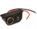 Custom Accessories 18003 12V Dual USB Under Dash Mount