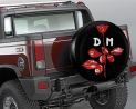 Depec-He Mo-De Spare Tire Cover Good Vibes Waterproof Dust-Proof Universal Spare Wheel Tire Cover Fi