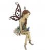 Design Toscano HF326063 Fannie the Garden Fairy Sitting Statue, 12 Inch, Polyresin, Full Color,Singl