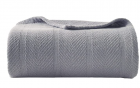 Eddie Bauer Home   Herringbone Collection   100% Cotton Light-Weight and Breathable Blanket, Cozy an