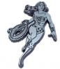 Elektroplate Wonder Woman Chrome Auto Emblem - Front View