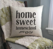 EricauBird Home Sweet Homeschool Homeschool Decor Classroom Pillow Homeschool Throw Pillow Cover Cus