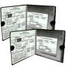 ESSENTIAL Car Auto Insurance Registration BLACK Document Wallet Holders 2 Pack - [BUNDLE, 2pcs] - Au