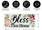 Evergreen Flag Indoor Outdoor Décor for Homes Gardens and Yards Shiplap Floral Bless This Home Sass