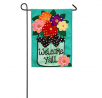 Evergreen Flag Welcome Y'all Polka Dot Flowers Burlap Garden Flag - 12.5 x 18 Inches Outdoor Decor f