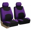 FH Group FB030PURPLE-COMBO Seat Cover Combo Set with Steering Wheel Cover and Seat Belt Pad (Airbag