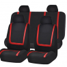 FH Group FB032RED114 Red Unique Flat Cloth Car Seat Cover (w. 4 Detachable Headrests and Solid Bench