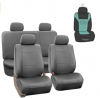 FH Group PU002114 Premium PU Leather Seat Covers (Gray) Full Set with Gift – Universal Fit for Car