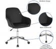 Flash Furniture Cortana Home and Office Mid-Back Chair in Black LeatherSoft