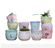 Garden supplies flower pots ceramic planters ceramic vase Size and shape can be customized