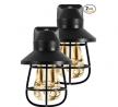 GE Vintage LED Night Light, 2 Pack, Plug-in, Dusk-to-Dawn Sensor, Farmhouse Décor, Rustic, UL Certi