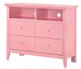 Glory Furniture Hammond , Pink Media Chest, 36