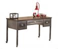 Hillsdale Furniture Urban Quarters Metal Desk, Black Steel/Antique Cherry